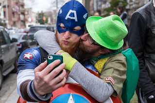 Superhero Selfies on Purim