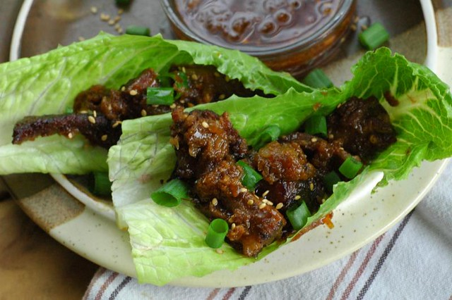 korean short rib wraps