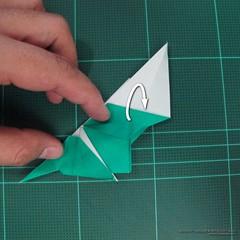 วิธีพับกระดาษเป็นรูปหมู (Origami Pig) 024