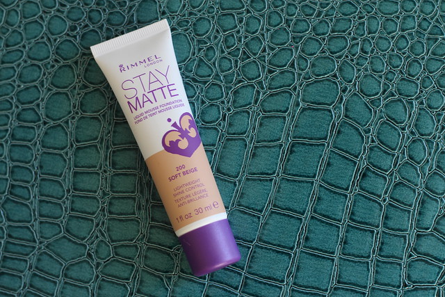 Wearing Rimmel London Stay Matte Foundation on Living After Midnite Makeup Monday