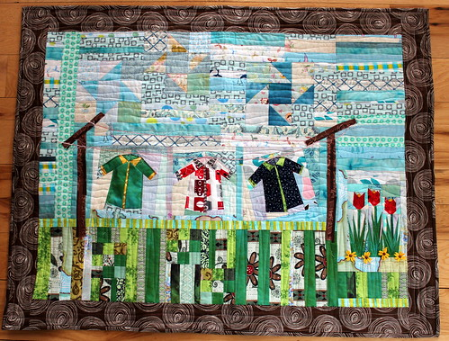 On the Line - Quilt for the Triple Troulbe Project QUILTING Challenge