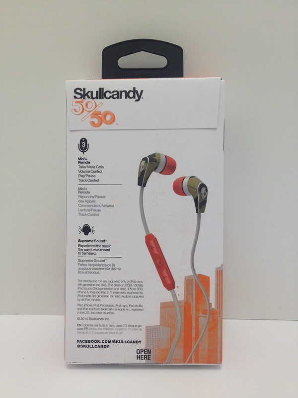 Skullcandy 50/50 In-Ear Bud Stereo Headphones w/Mic Remote ...