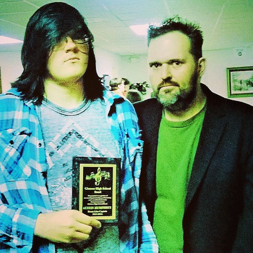 Austin Humphrey: 2013 GAS Band Banquet with his father, Frankie Shane,  after he received the title of