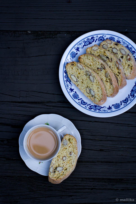 Clementine Scented Almond Biscotti 1