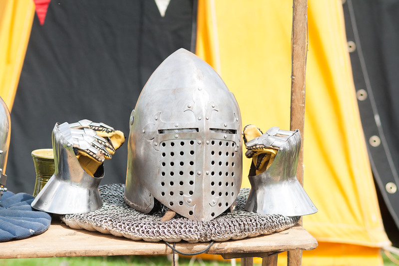 A knight's helmet