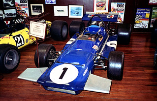 Jackie Stewart's 1970's March 701 F1 car on display at the Motor Museum, York, Western Australia