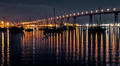 One night at Coronado Bridge.