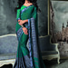 Green Embroidery Dazzling Bordered Saree Sarees on Shimply.com