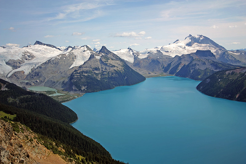 Garibaldi Lake and Massif in Garibaldi Provincial Park, near Whistler, British Columbia