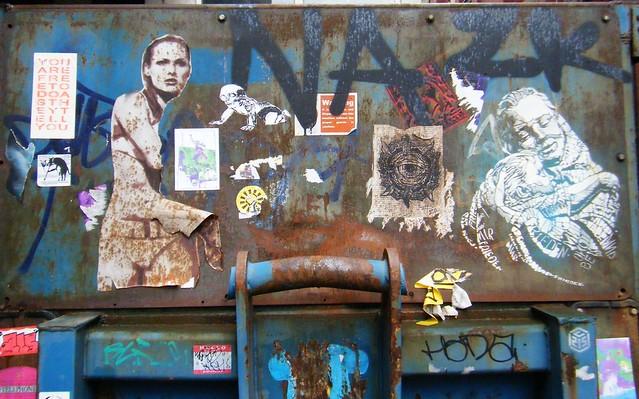 Manchester - street art on a skip