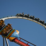 Dragon Khan and Shambhala at PortAventura, Salou, Spain