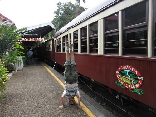 48. kuranda railway headstand
