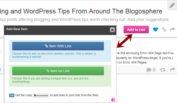 Add your Blogging tips post
