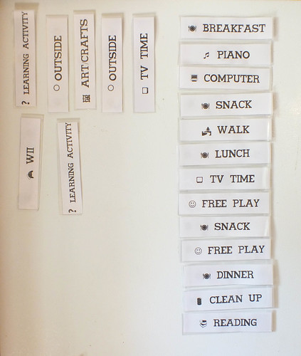 Daily Fridge Schedule