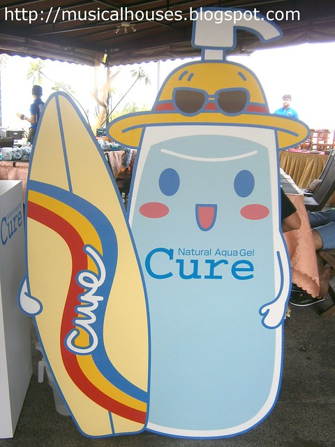 cure natural aqua gel mascot