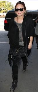 Demi Lovato Studded Biker Boots Celebrity Style Women's Fashion