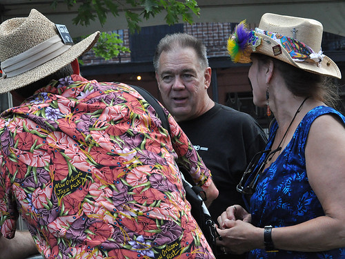 Bruce Daigrepont chats with fans at the Cajun-Zydeco Fest