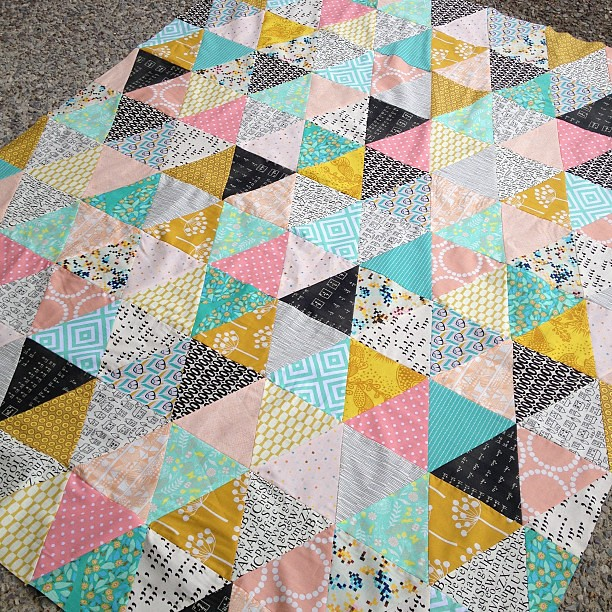 Triangle quilt top complete! #triangleman #babylock