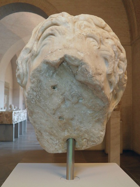 Marble head of Alexander the Great, Glyptothek, Munich