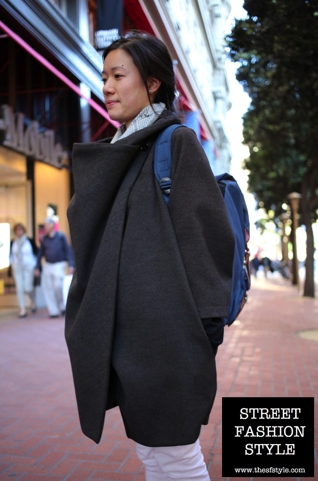 cape, cloak, shawl, mantle, hershel backpack, blue suede shoes, tassled loafers, san francisco fashion blog, street fashion style, thesfstyle, sfstyle,