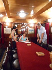 Kings Train, signing guest book, Romania