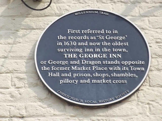 Photo of Ye Olde George Inn, Christchurch blue plaque