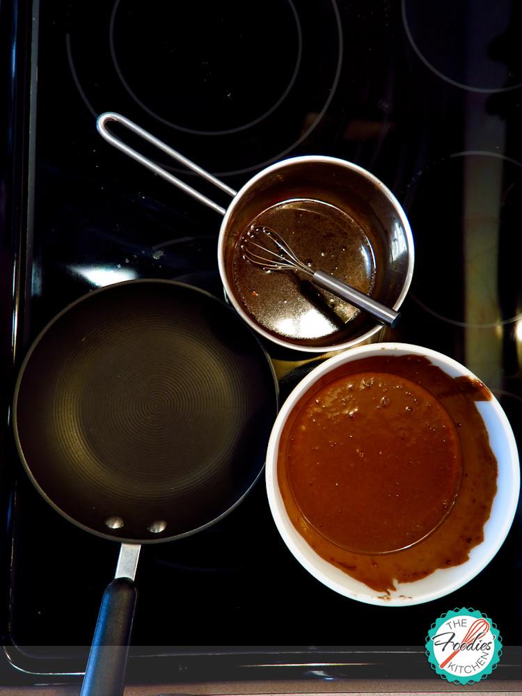 Chocolate Pancakes with Orange Chocolate-Maple Syrup