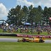 Ryan Hunter-Reay navigates the Mid-Ohio Esses as a good crowd watches on
