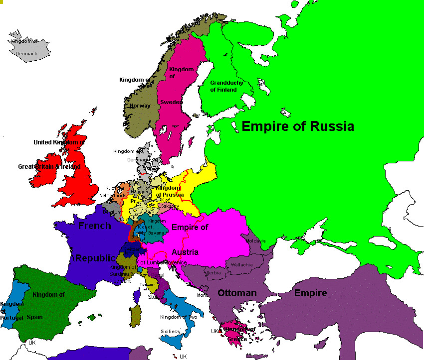 Map Of Europe 1850 The Polish Lithuanian State Declined Flickr