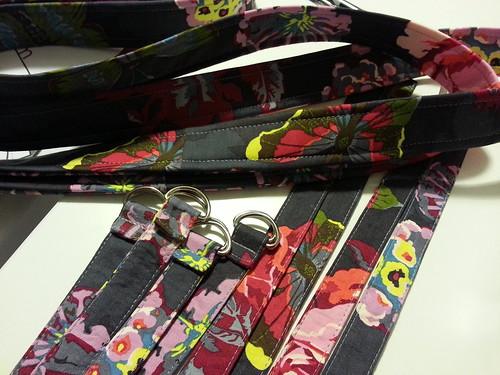 Art student tote straps closeup