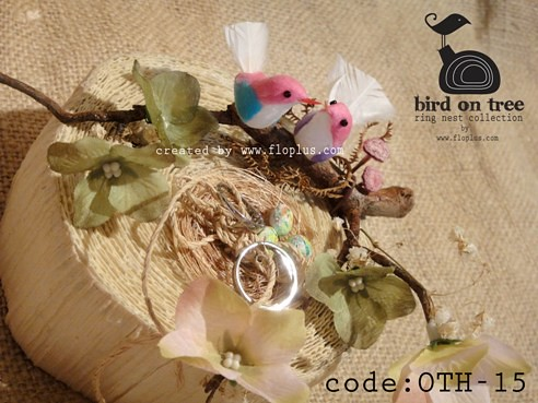 natural theme wedding ring nest tree style from floplus