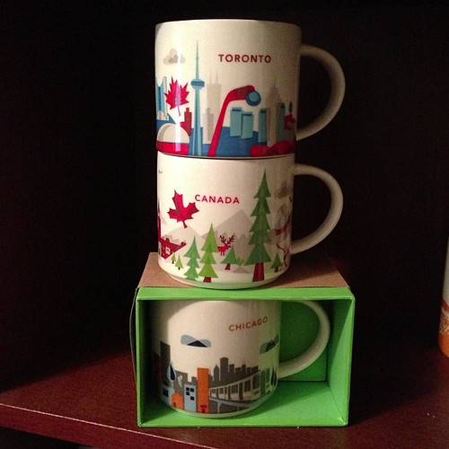 222:365 Finding a home for my new mugs. #starbucks #youarehere