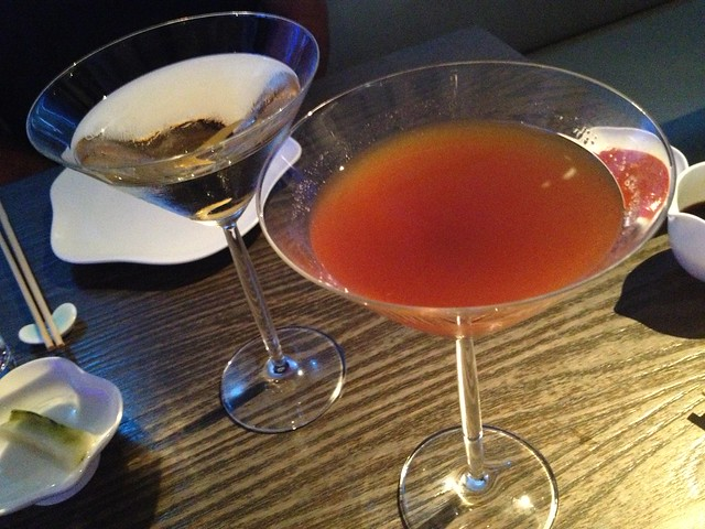 Golden aster martini and Ages Vesper martini - Yauatcha