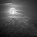 Moon and Mt Rainier by 1riverat