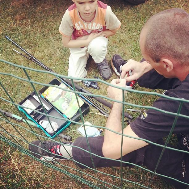 ★ les hommes se préparent pour aller à la pêche ★ #blog #blogueuse #ourlittlefamily #france #weekend