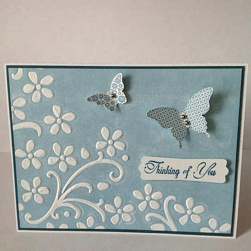 Blue on white card #stampinup