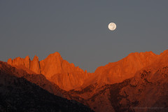 Sunrise Moon Set by Mt. Whitney