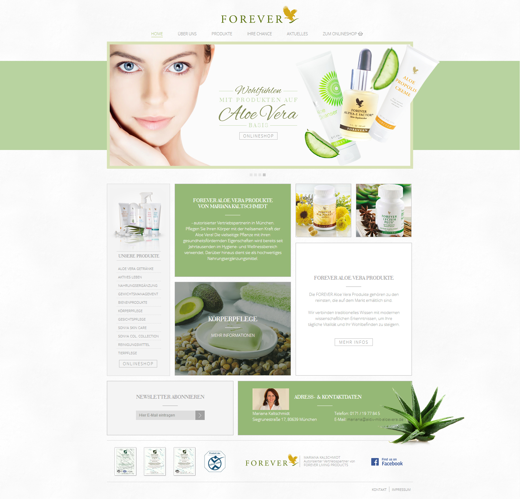 Forever Beautiful Health Website