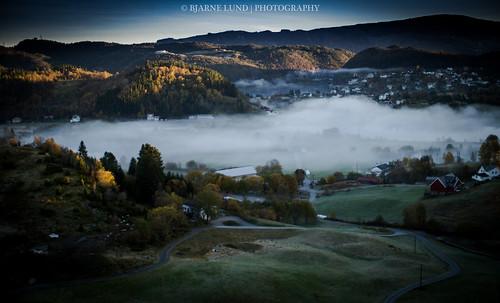 morning mist norway sunrise bergen hordaland tåke haugland 2013 bjarnelund