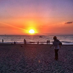 Sunset, Morito Beach