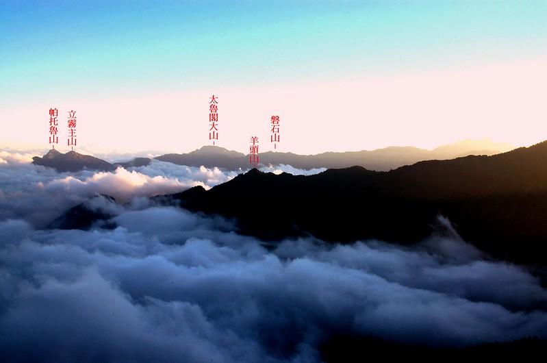 奇萊東稜(From 無明山西峰) 1-1