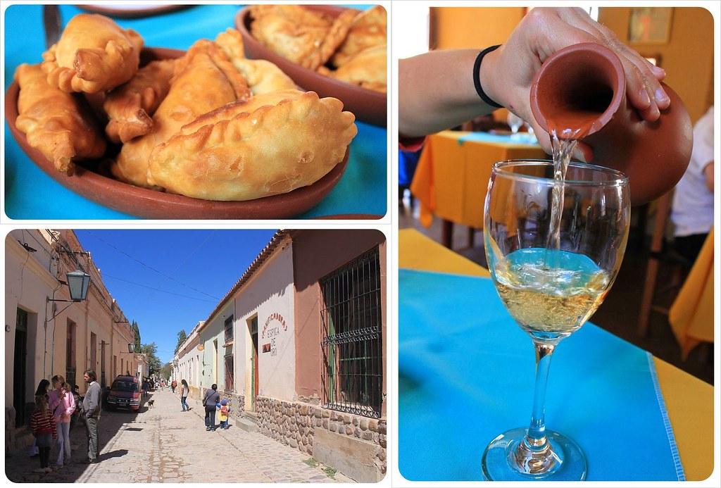 Humahuaca wine and empanadas