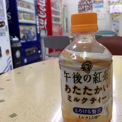 午後の紅茶。 今日の大須は、心なしか子供が多いな。