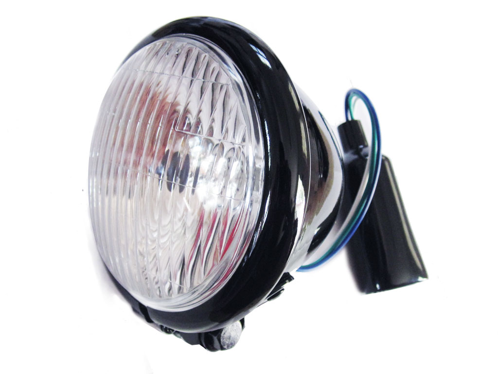 4.5 Inch Black Bottom mount headlight