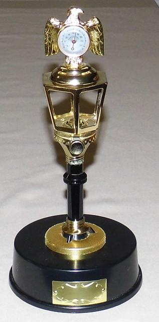 Vintage Colibri AM Lamp Post Novelty Radio, Combination Radio, Thermometer and Butane Cigarette ...