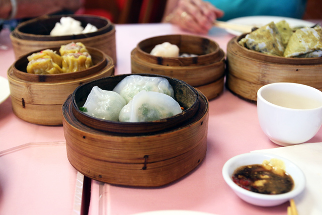 Dim sum at Nice Day restaurant, Honolulu, Hawaii