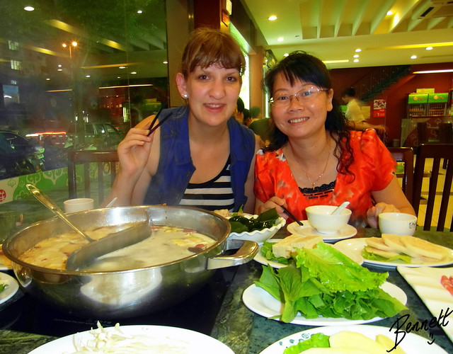 Dinner with adult students in China