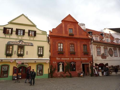 Fachadas de Cesky Krumlov (Bohemia del Sur, República Checa)