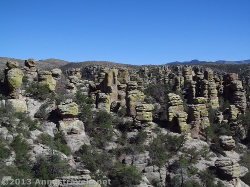 Views of Rock Spires from the Echo Canyon Trail, Chiricahua National Monument, Arizona