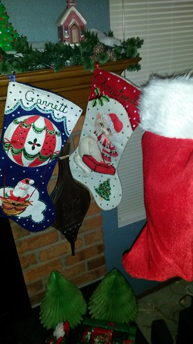 Decorative stockings plus actual stocking by christopher575